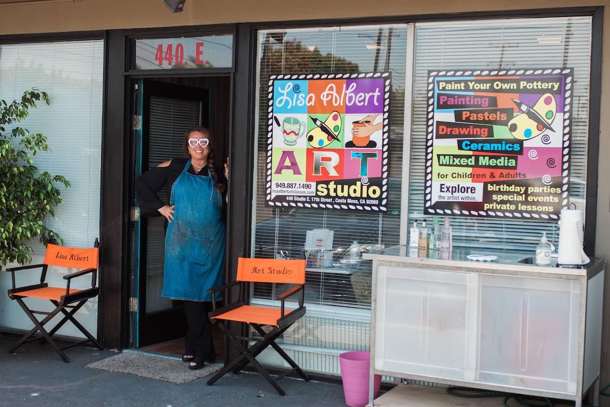 Lisa Albert at Lisa Albert Art Studio and Art Classes, 440 East 17th Street, Costa Mesa 92627