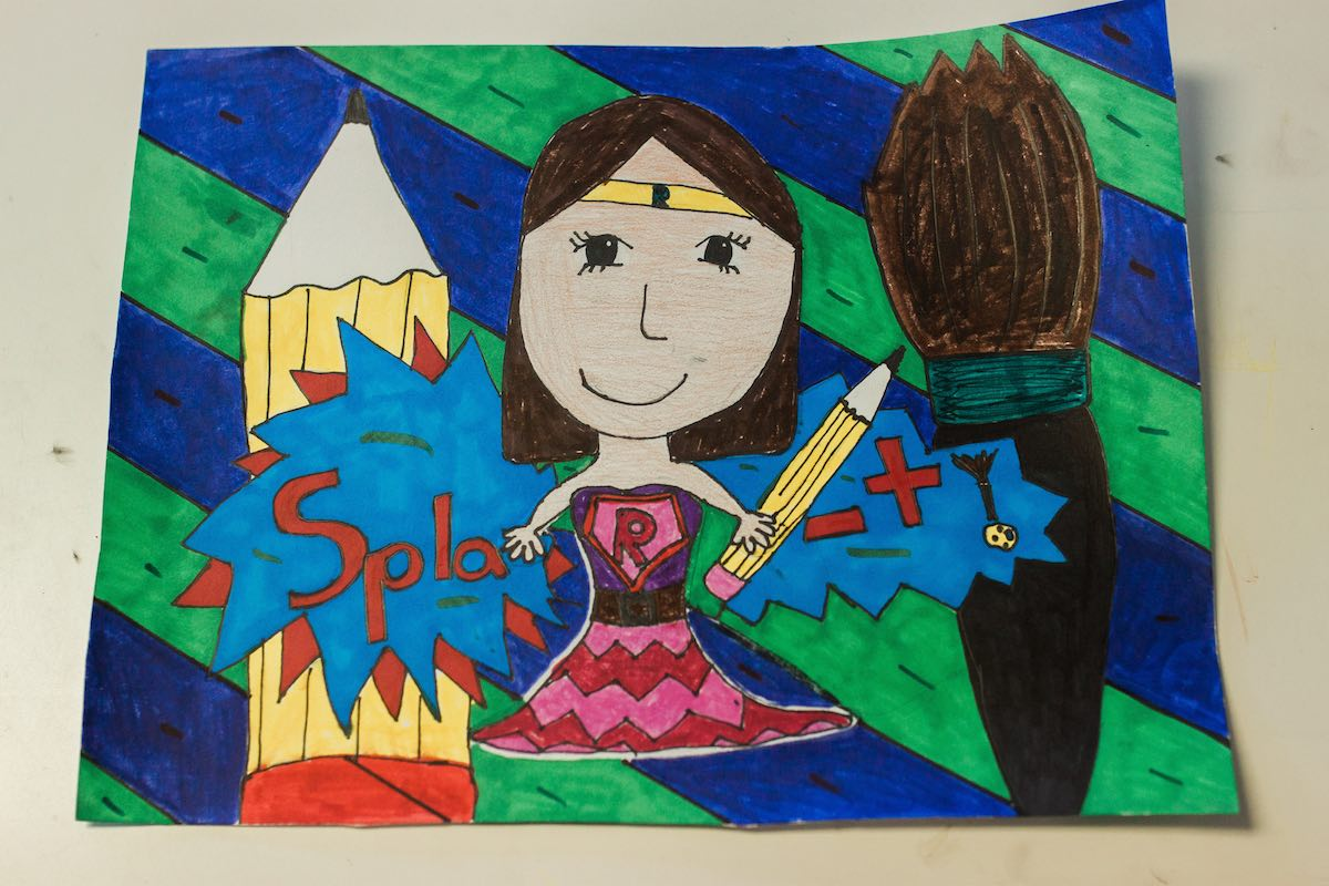 """""""Splat!"""" Artwork at Lisa Albert Art Studio in Eastside Costa Mesa, California"""
