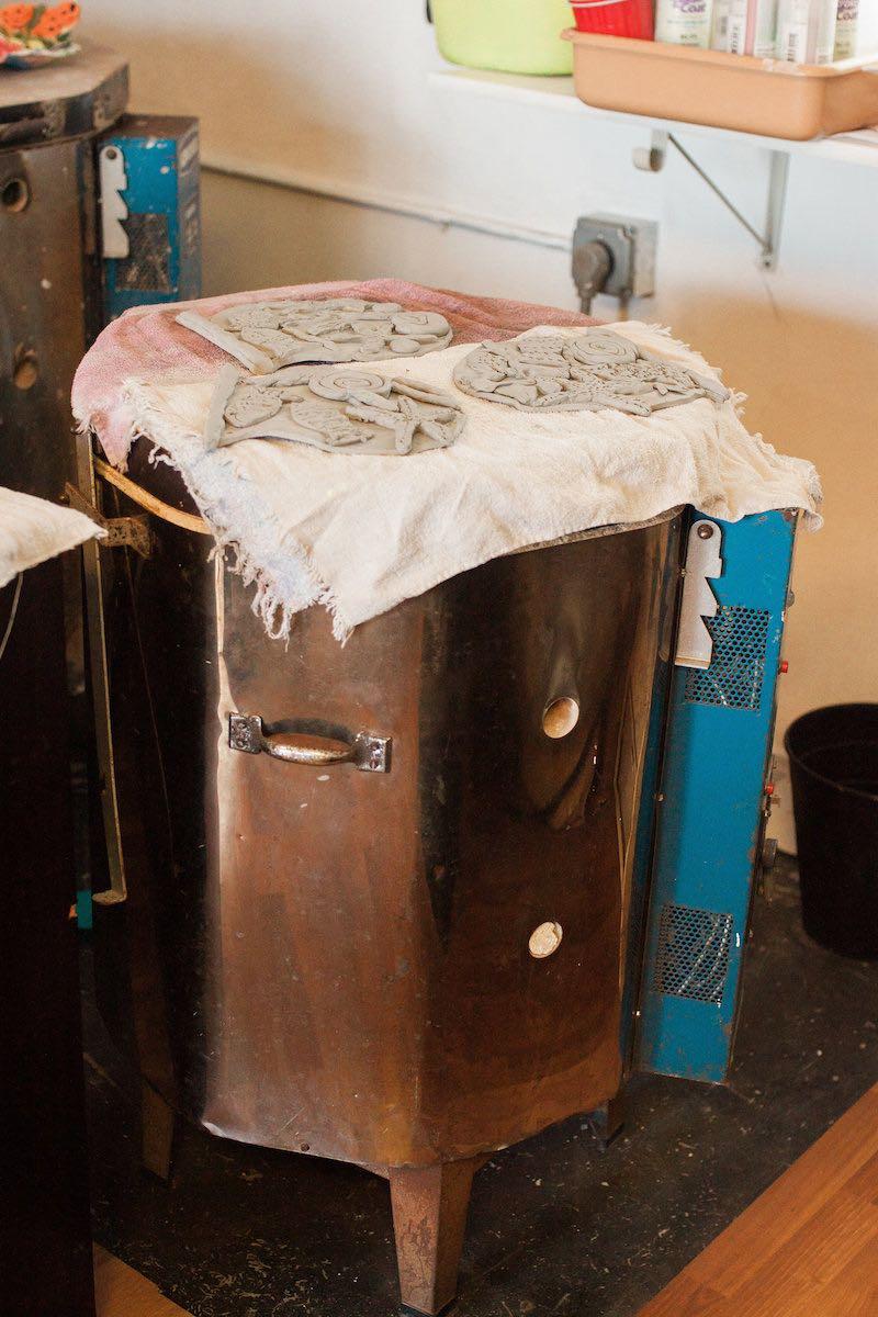 Ceramics Kiln at Lisa Albert Art Studio in Eastside Costa Mesa, California