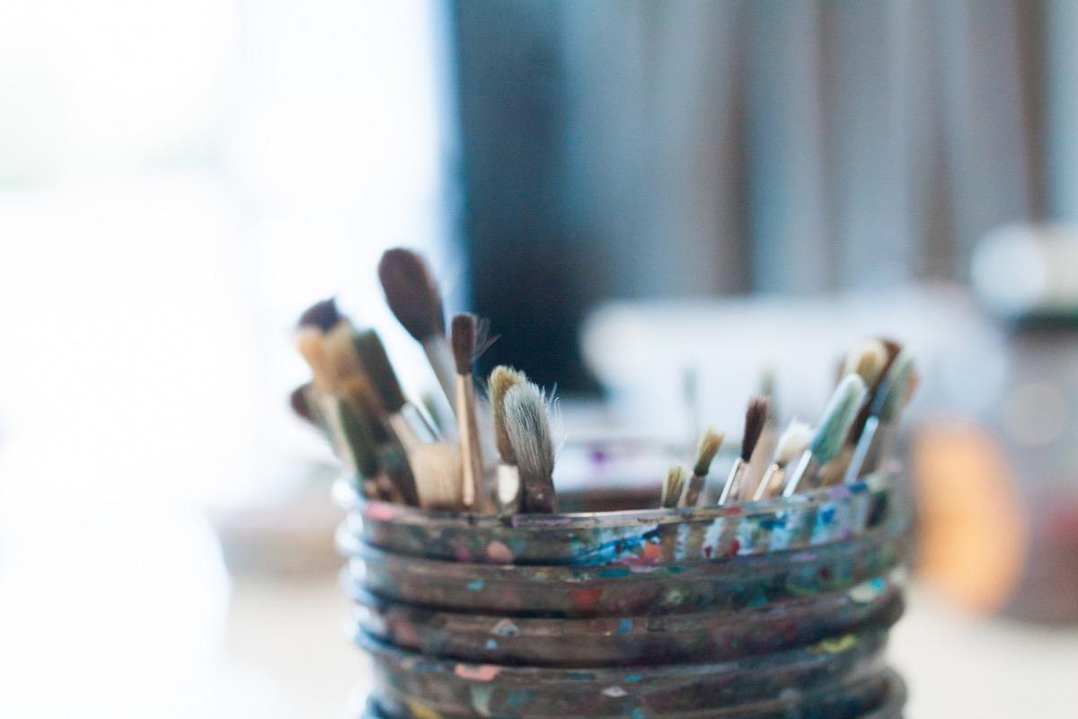 The Finer Details of Lisa Albert Art Studio, Art Classes, Co-Op Art Studio at 440 East 17th Street, Costa Mesa