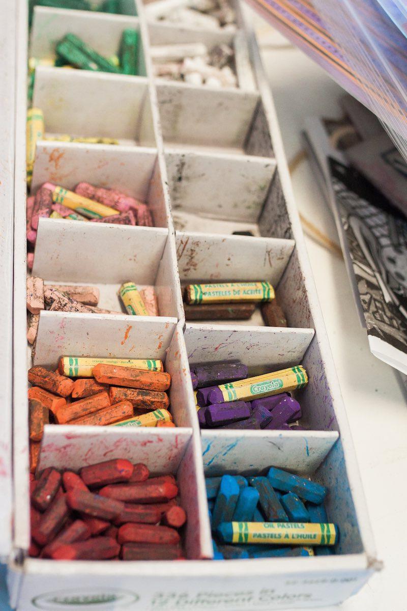 A Color Palette of Pastels at Lisa Albert Art Studio in Eastside Costa Mesa, California