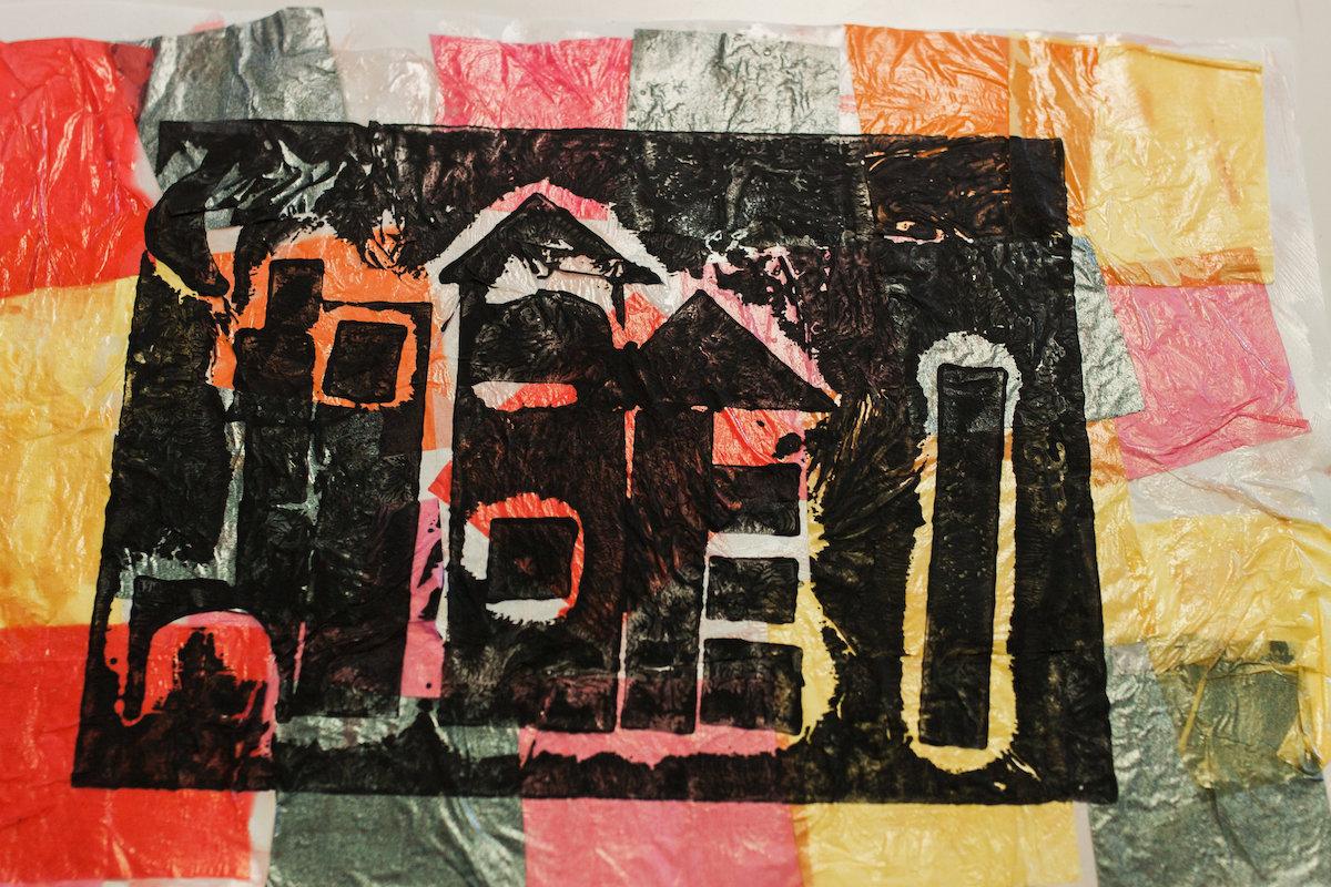 Mixed Media Artwork at Lisa Albert Art Studio in Eastside Costa Mesa, California
