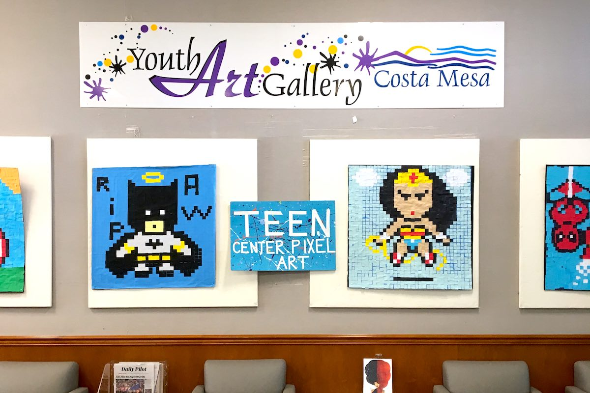 I Heart Costa Mesa: Youth Art Gallery on the Ground Floor at Costa Mesa City Hall