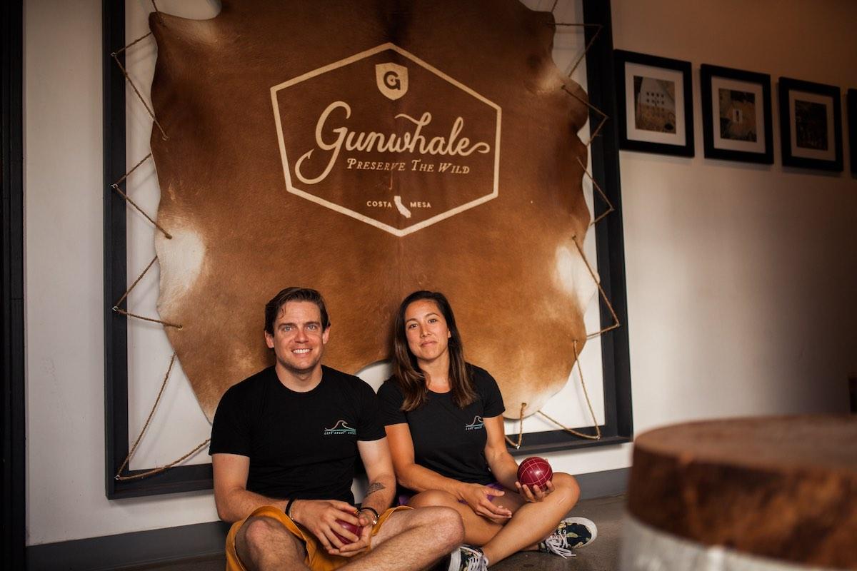 Corey Walker and Rachel Wong, Creators of the Left Coast Sports Bocce League at Gunwhale Ales in Costa Mesa, California