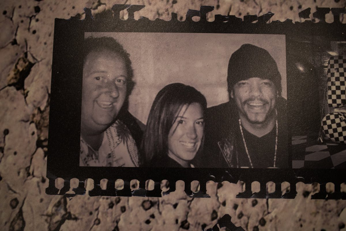 5e0d6e5de32dab Photo of Steve Van Doren and Kristy Van Doren with Ice-T at Vans HQ