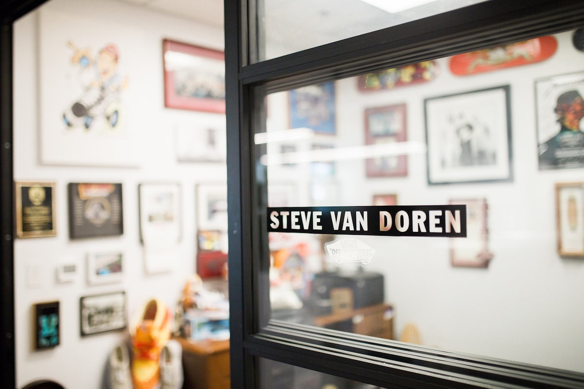 37b90bd04d01b8 Steve Van Doren s office at Vans HQ in Costa Mesa