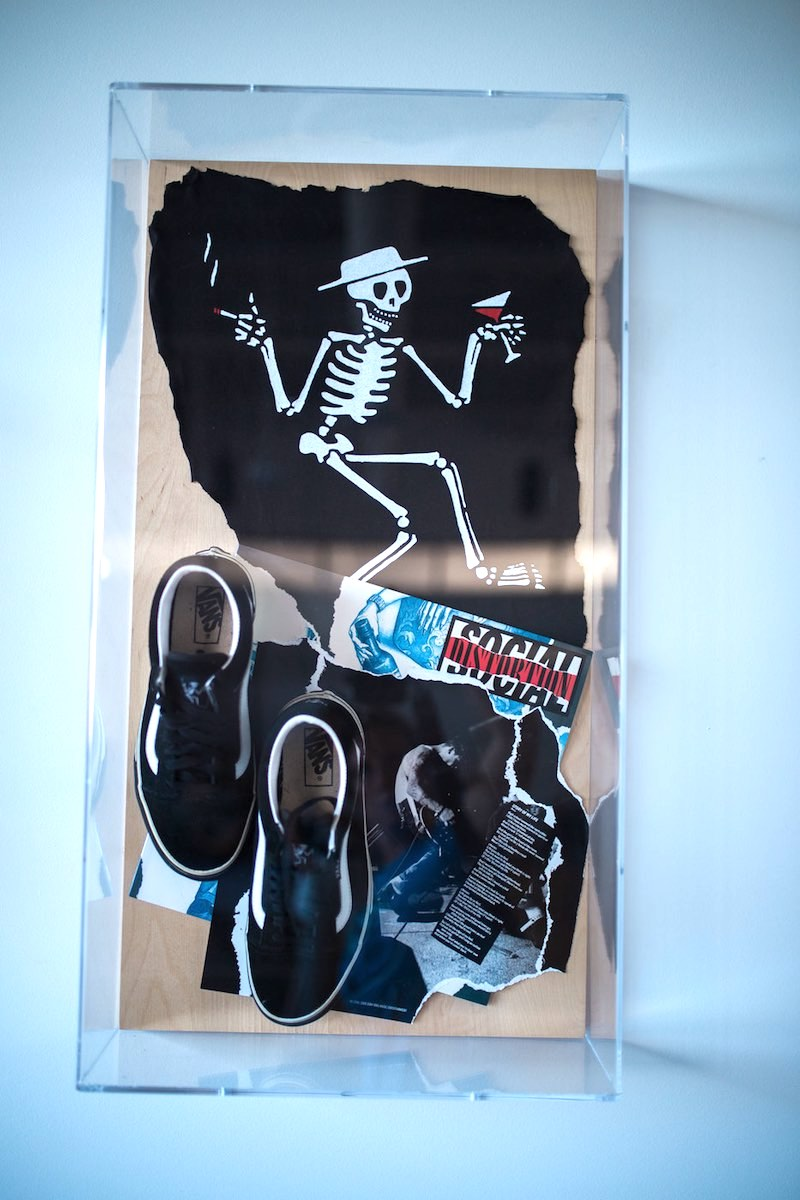 35dcd918d2a45f Social Distortion Old Skools on display at Vans HQ in Costa Mesa