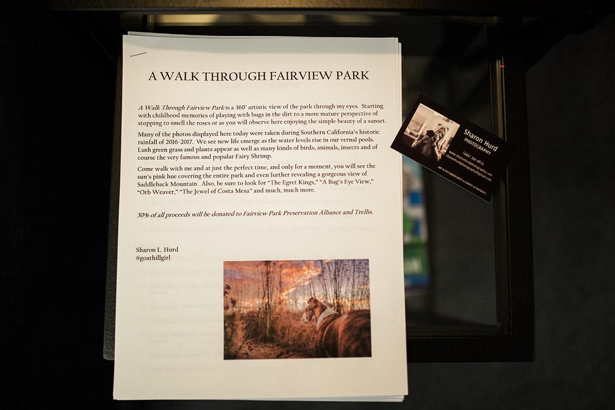 Sharon Hurd, A Walk Through Fairview Park Exhibit in Costa Mesa, California