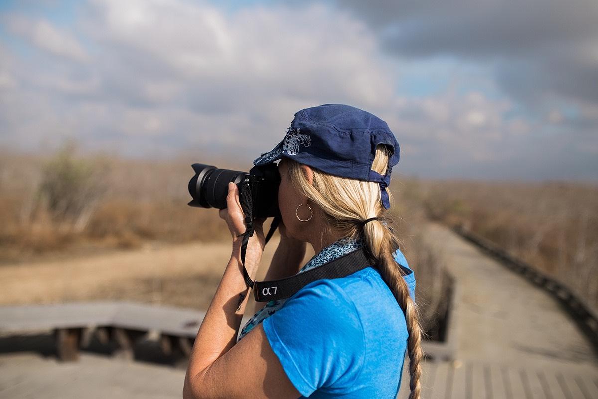 Photographer, Sharon Hurd, Shooting Nature in Fairview Park in Costa Mesa, California