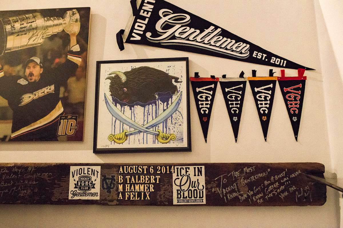 53b42bd0d631e Flags and Pennants at Violent Gentlemen Hockey Club HQ in Costa Mesa