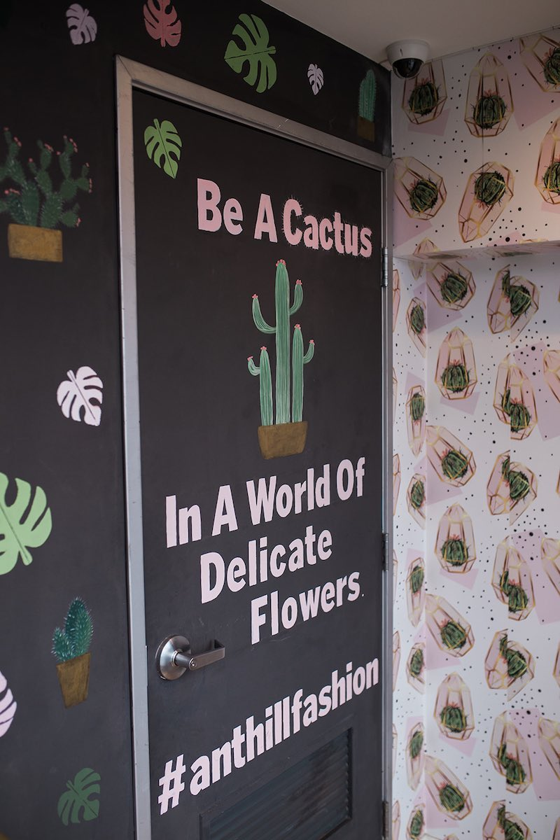 """I Heart Costa Mesa: """"Be a cactus"""" at Anthill Fashion Market in Eastside Costa Mesa, California. (photo: Brandy Young)"""