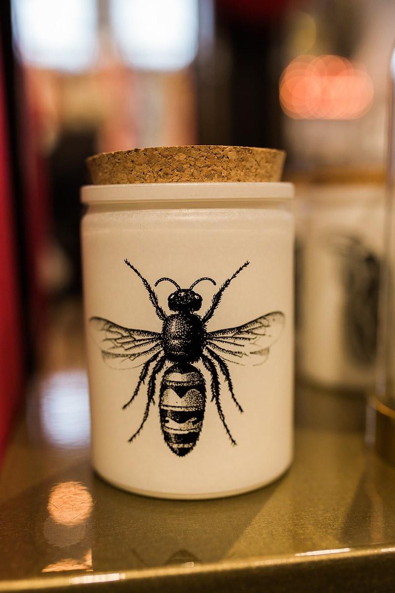 I Heart Costa Mesa: Bumblebee apothecary jar at Anthill Fashion Market in Costa Mesa, California. (photo: Brandy Young)