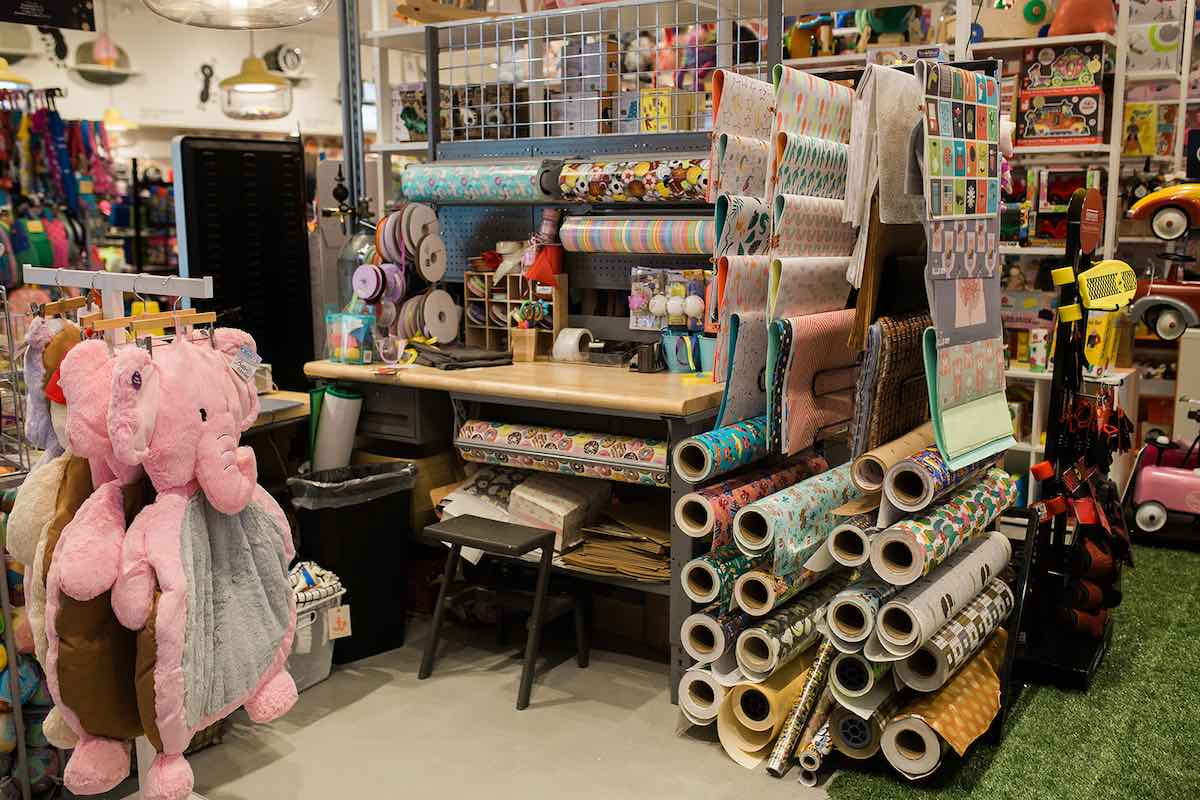 I Heart Costa Mesa: Gift wrap at Anthill Fashion Market in Eastside Costa Mesa, California. (photo: Brandy Young)