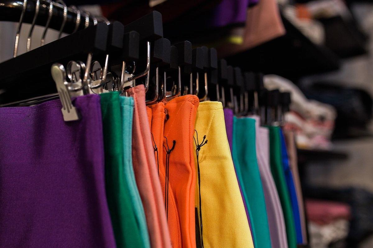 I Heart Costa Mesa: Rainbow on the rack at Anthill Fashion Market in Eastside Costa Mesa, California. (photo: Brandy Young)