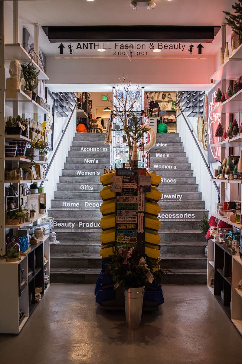 I Heart Costa Mesa: Step on up to the second floor at Anthill Fashion Market in Costa Mesa, California. (photo: Brandy Young)