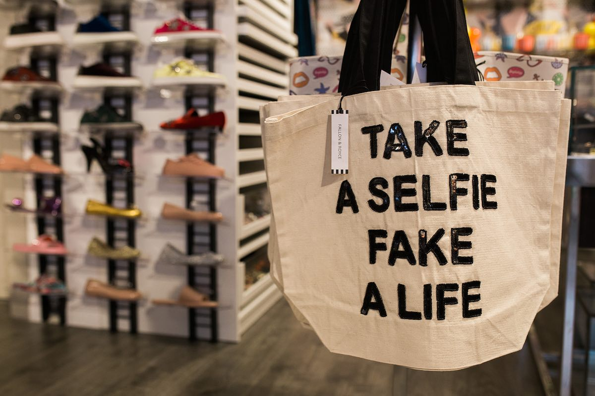 """I Heart Costa Mesa: """"Take a selfie, fake a life"""" at Anthill Fashion Market in Eastside Costa Mesa, California. (photo: Brandy Young)"""