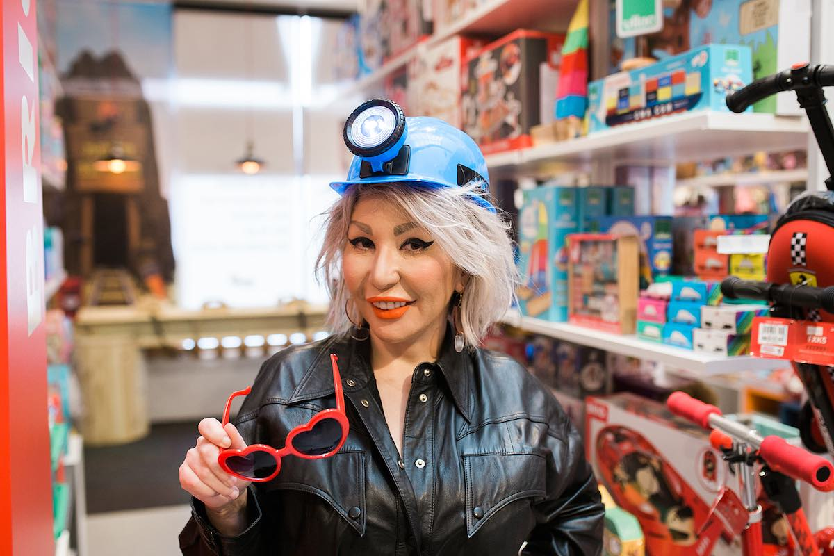 Silly Side: Elvira Kud at Anthill Fashion Market in Eastside Costa Mesa. (photo: Brandy Young)