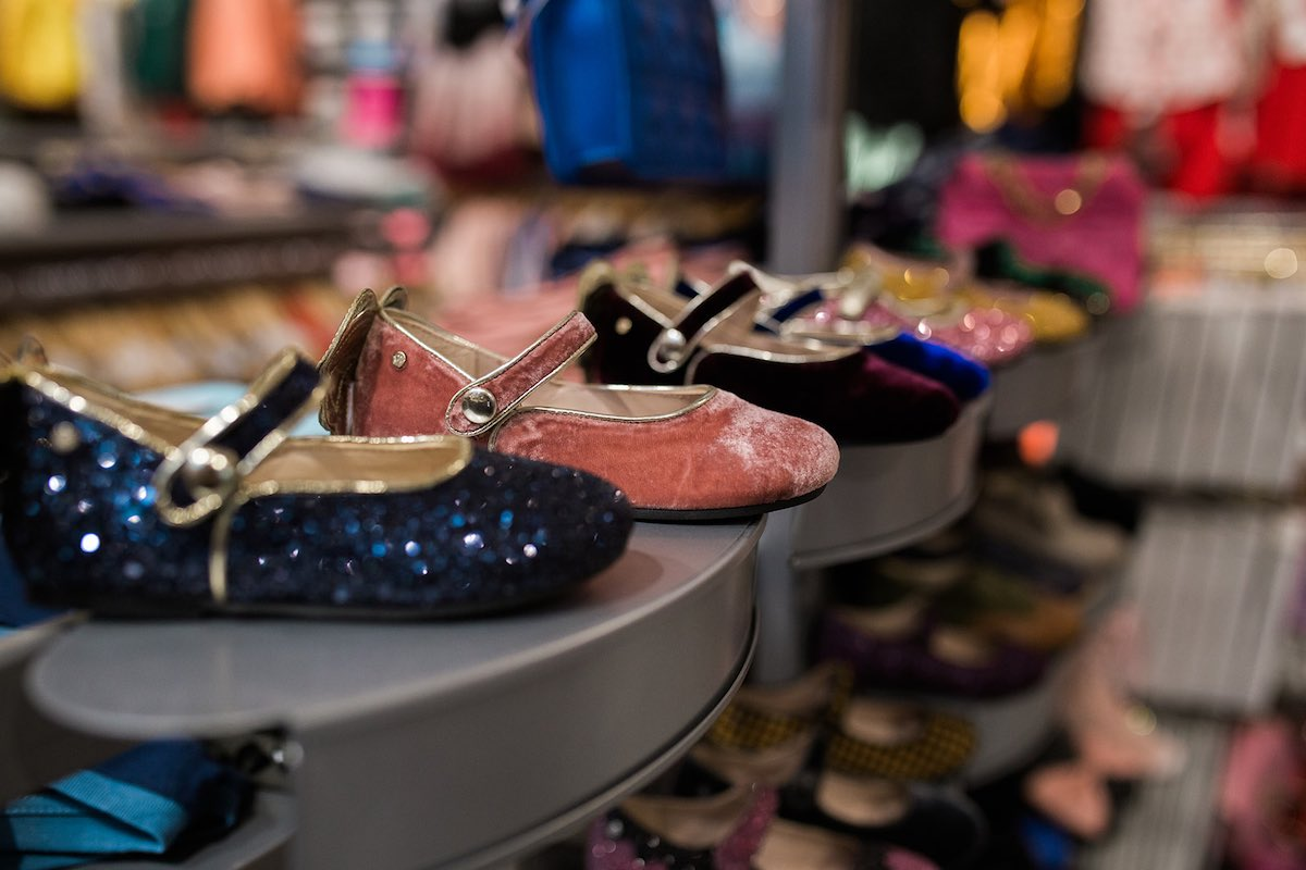 I Heart Costa Mesa: Sparkly girls glitter shoes at Anthill Fashion Market in Costa Mesa, California. (photo: Brandy Young)