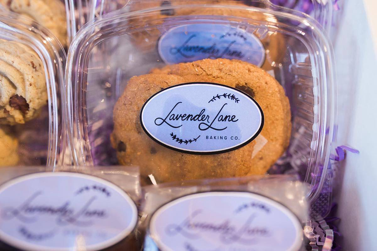 I Heart Costa Mesa: Box of Gluten-Free Chocolate Chip Cookies at Lavender Lane Baking Co. in Costa Mesa, Orange County, California. (photo: Brandy Young)